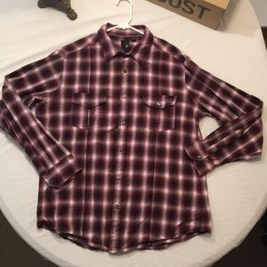XL JF J FERRAR PLAID BUTTON DOWN MODERN FIT